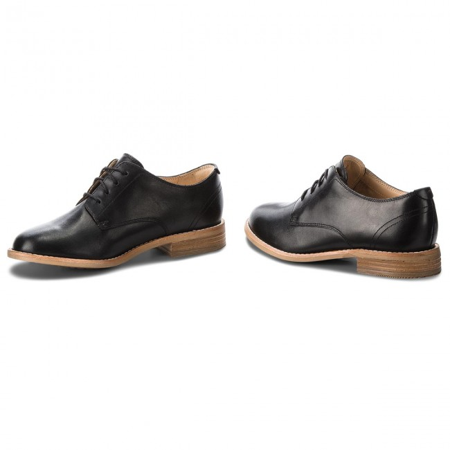 Oxfords  CLARKS     Oxfords                                                Edenvale Ash 261363034 schwarz Leder 56e5c2