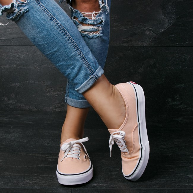 Damenschuhe Halbschuhe Turnschuhe Turnschuhe VANS - Authentic VN0A38EMU5Y Bleached Apricot Whi True Whi Apricot dcda54