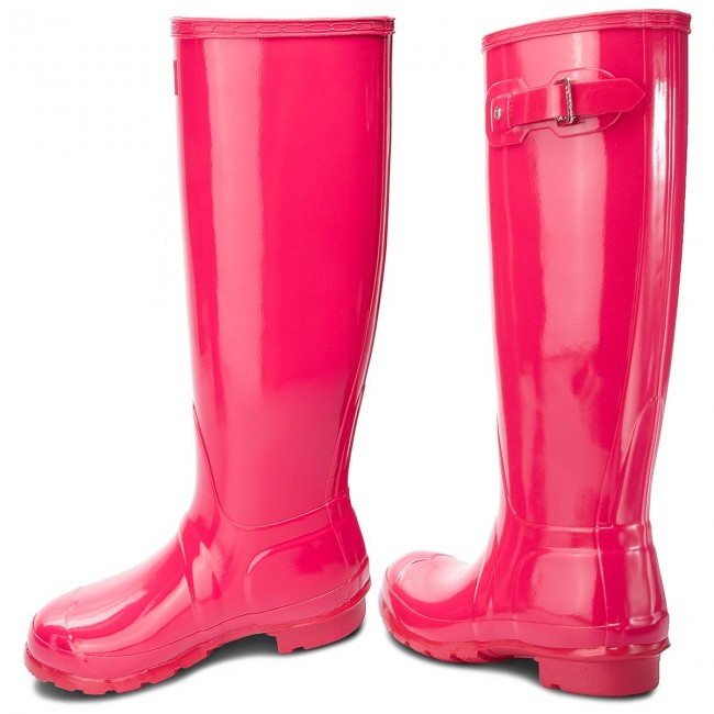 Gummistiefel HUNTER                                                      Org Tall Gloss WFT1000RGL  Bright Pink f3ddde