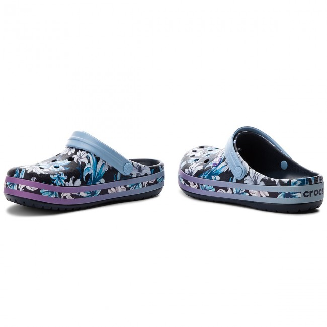 Pantoletten CROCS                                                      Crocband Graphic III Clog 205330 Tropical Floral/Navy 184291