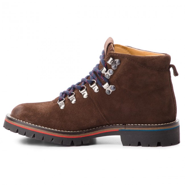 Trapperschuhe PEPE JEANS-Mountaineer Suede PMS50168 898 Dk Braun 898 PMS50168 729fe4