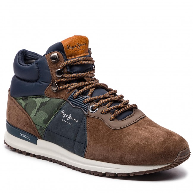 Halbschuhe Turnschuhe PEPE JEANS - Tinker Pro-Stiefel PMS30490 Stag 884