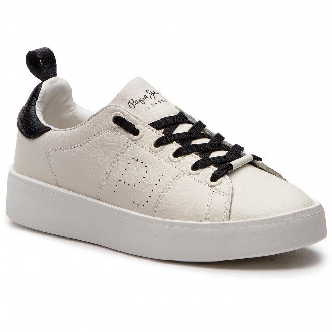 Sneakers PEPE JEANS - Brixton Low PLS30778 White 800 - Sneakers ... c259e4f68c