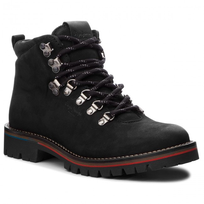 Trapperschuhe PEPE 999 JEANS-Mountaineer Boot PMS50167 Black 999 PEPE 4b6f07