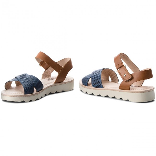 Sandalen PIKOLINOS                                                    W5T-0515 Royal Blue/Brandy