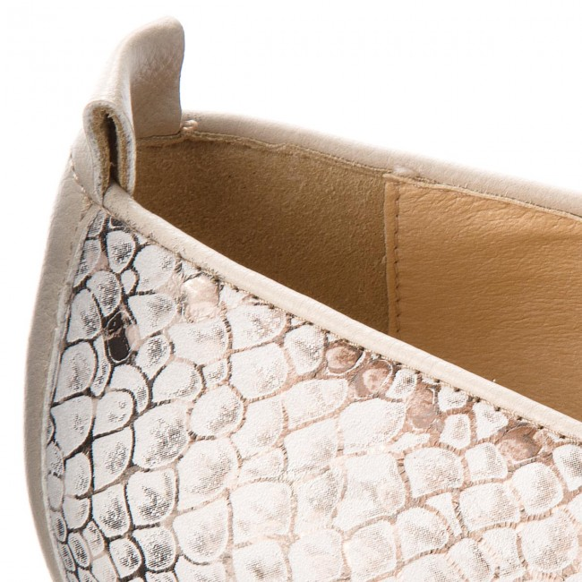 Lords Janalee Schuhe GEOX  D Janalee Lords H D725AH 041BC C1181 Off White/Lt Taupe 4889b2