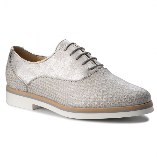 Oxfords GEOX-D Janalee D825AA 06RPV C0742 Lt Grey/Off White Werbe Schuhe