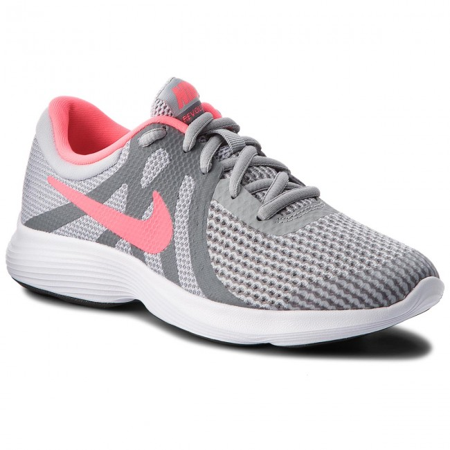 Schuhe NIKE Revolution 4 (GS) 943306 003 Wolf Grey/Racer Pink/Cool Grey