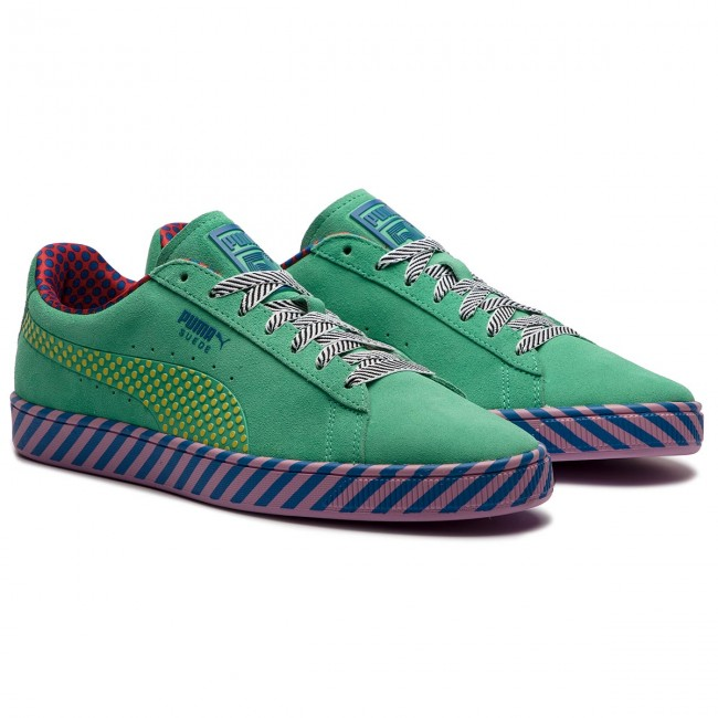 Sneakers PUMA Suede Classic Pop Culture 367776 01 Biscay GreenVibrant Yellow