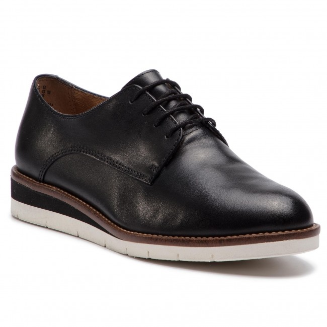 Damenschuhe Halbschuhe Oxfords Oxfords TAMARIS - 1-23202-22 Blk Lea Plain 035