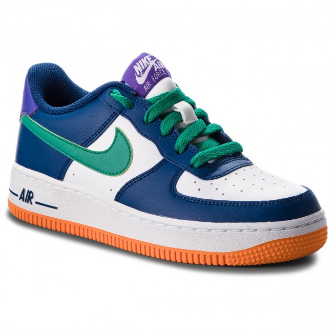 Schuhe NIKE                                                    Air Force 1 (GS) 596728 407 Gym Blue/Neptune Green/White