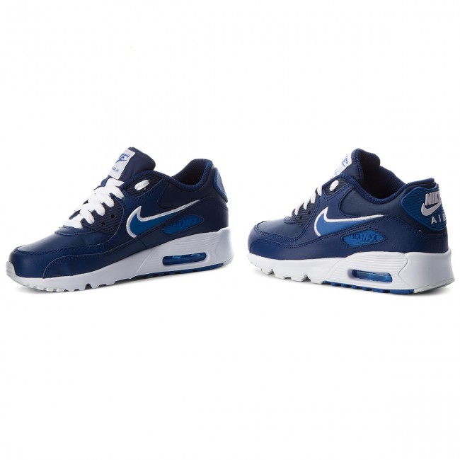 Schuhe NIKE                                                    Air Max 90 Ltr (GS) 833412 409 Blue Void/Game Royal/White