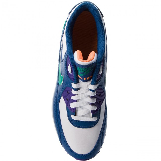 Schuhe NIKE                                                    Air Max 90 Ltr (GS) 833412 410 Gym Blue/Neptune Green/Cone