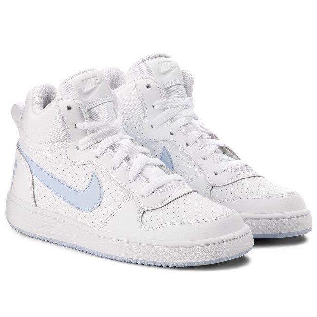 Schuhe NIKE                                                      Court Borough Mid (GS) 845107 103 Weiß/Royal Tint fc8890