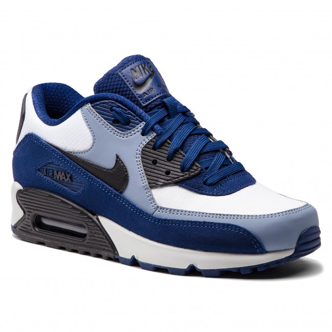 new arrival 85995 d750d ... best price schuhe nike air max 90 leather 302519 400 blue void black  ashen slate 92d08