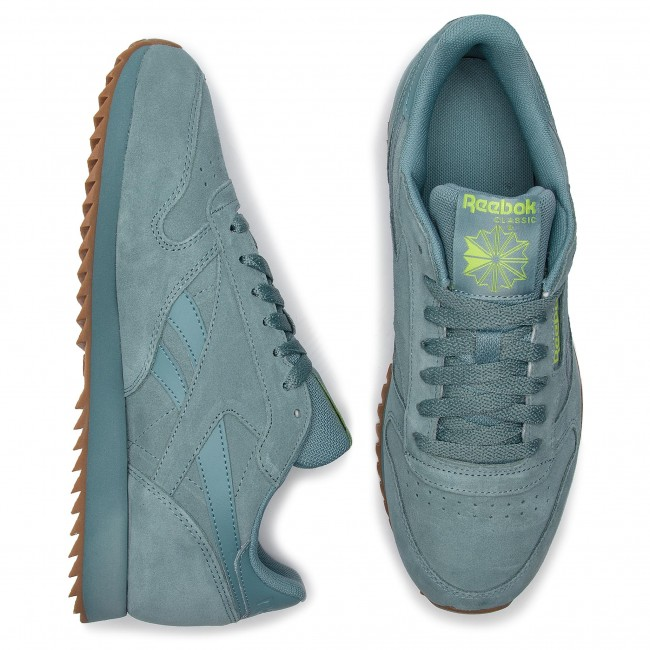 Schuhe Reebok Cl Leather Mu DV3934 Teal FogNeon LimeLee