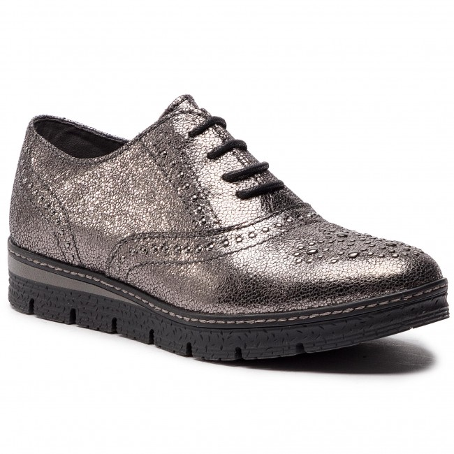 Damenschuhe Halbschuhe Oxfords Oxfords MARCO TOZZI - 2-23730-21 Pewter 915