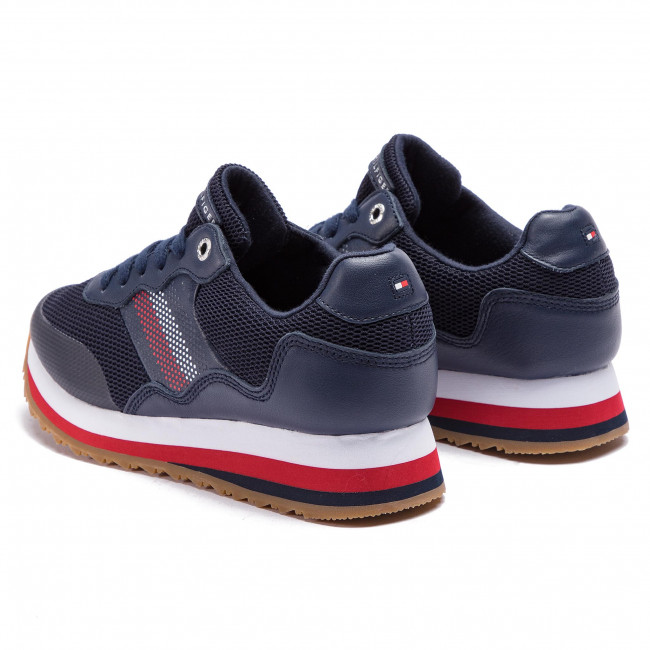 7c5efab38c Sneakers TOMMY HILFIGER - Corporate Retro Sneaker FW0FW04022 Tommy Navy 406