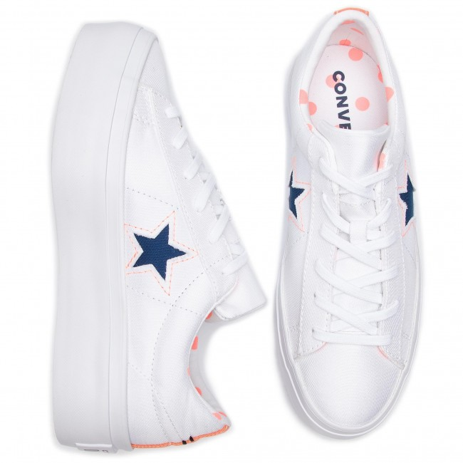 Turnschuhe CONVERSE One Star Platform Ox 560700C White
