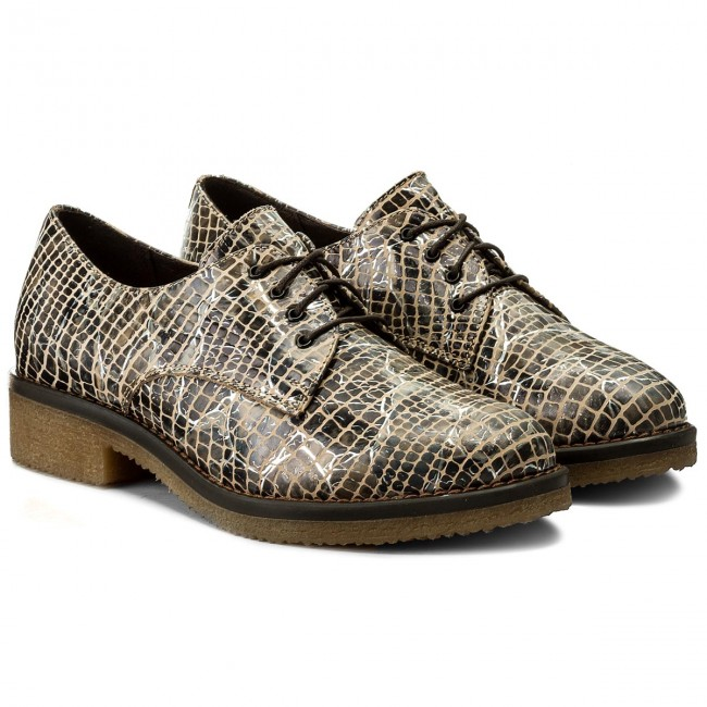 Oxfords LASOCKI                                                      COLOMBA-05 Beżowy 26374c