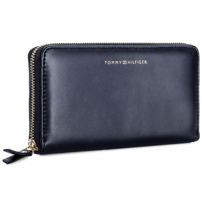 Große Damen Geldbörse Tommy Hilfiger Smooth Leather Lrg Za Wallet