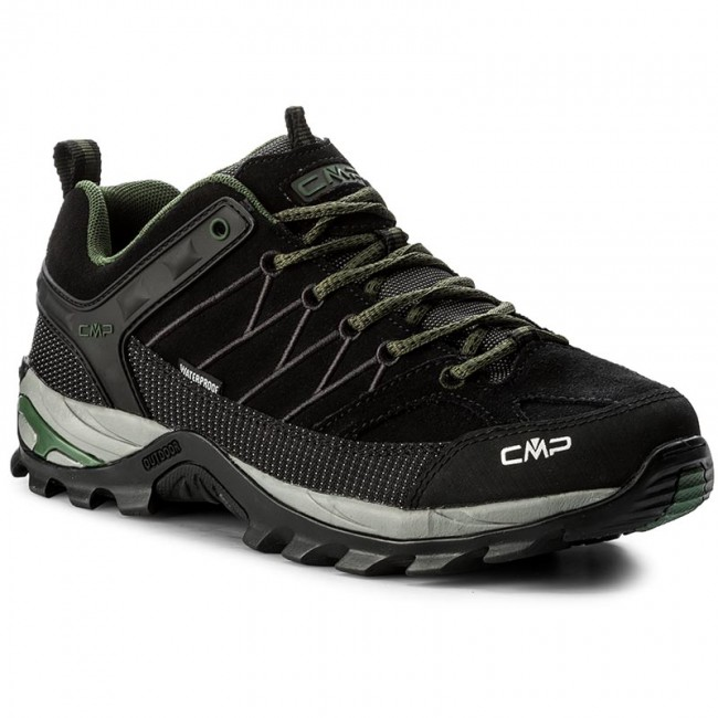 Trekkingschuhe Wp CMP-Rigel Low Trekking Shoes Wp Trekkingschuhe 3Q13247 Black/Loden 87BD e42495