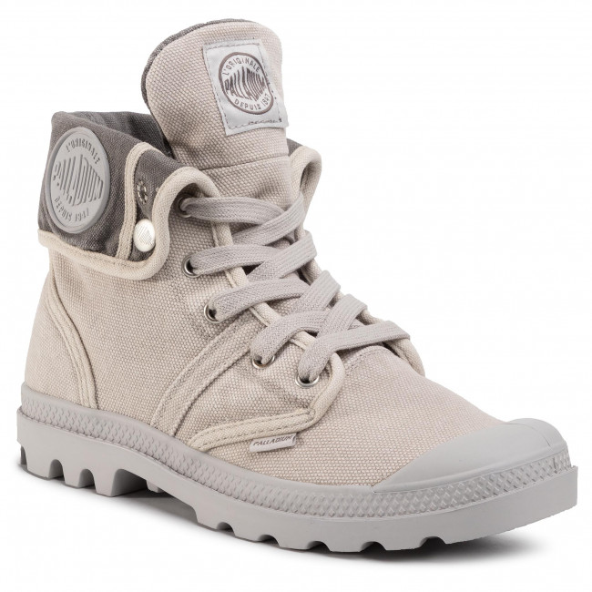 PALLADIUM Pallabrouse Baggy Sneaker Stiefellette Nude Grau Rainy Day Damen