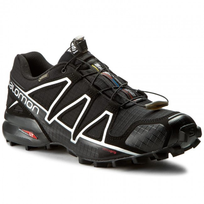 Schuhe SALOMON Speedcross 4 Gtx GORE TEX 383181 26 G0 BlackBlackSilver Metallic X