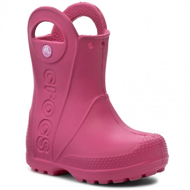 on sale bc213 8c5ae Gummistiefel CROCS - Handle It Rain Boot Kids 12803 Candy Pink