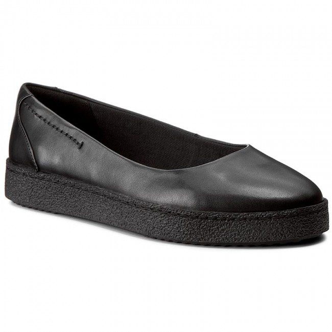 Halbschuhe CLARKS Lillia Petal 261272664 Black Leather