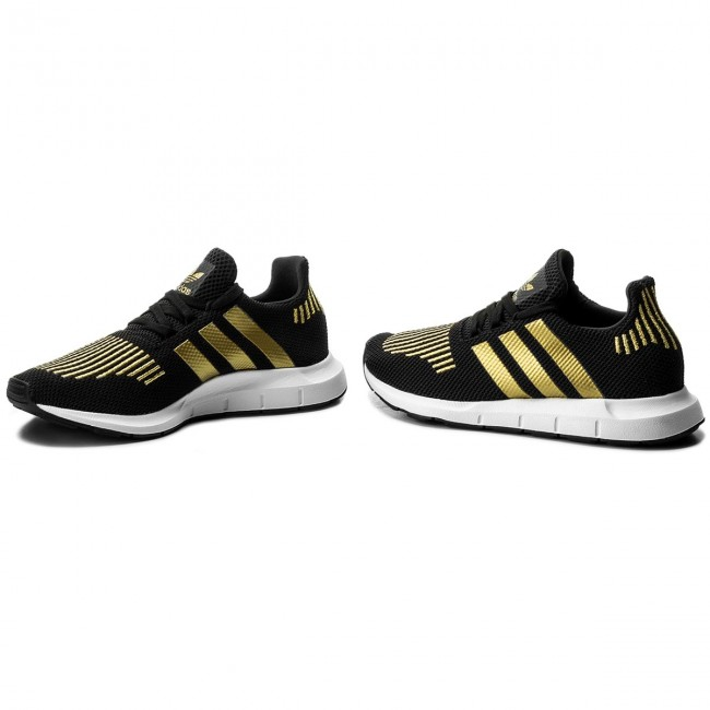 adidas Originals Damen Swift Run Schuhe CG4145 Schwarz Gold