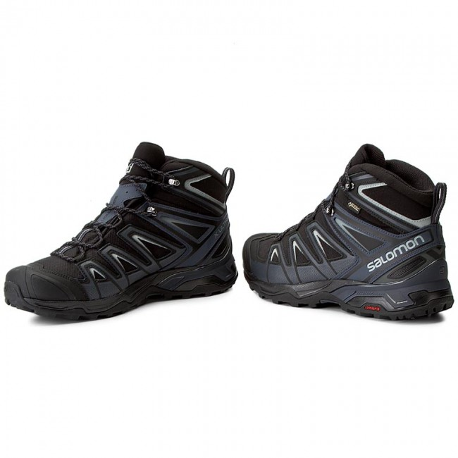 Trekkingschuhe SALOMON X Ultra 3 Mid Gtx GORE TEX 398674 33 V0 BlackIndia InkMonument