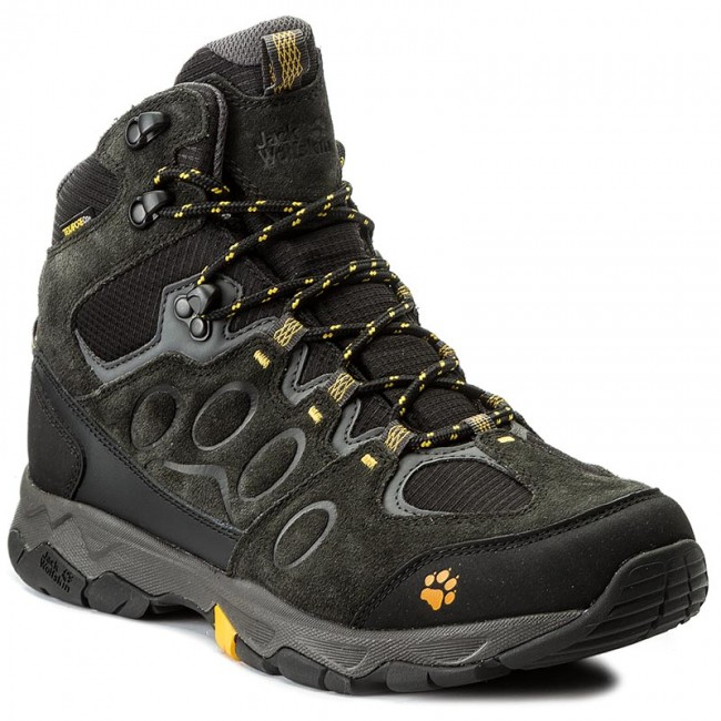 trekkingschuhe jack wolfskin mtn attack 5 texapore mid m 4017571 burly yellow trekkingschuhe. Black Bedroom Furniture Sets. Home Design Ideas