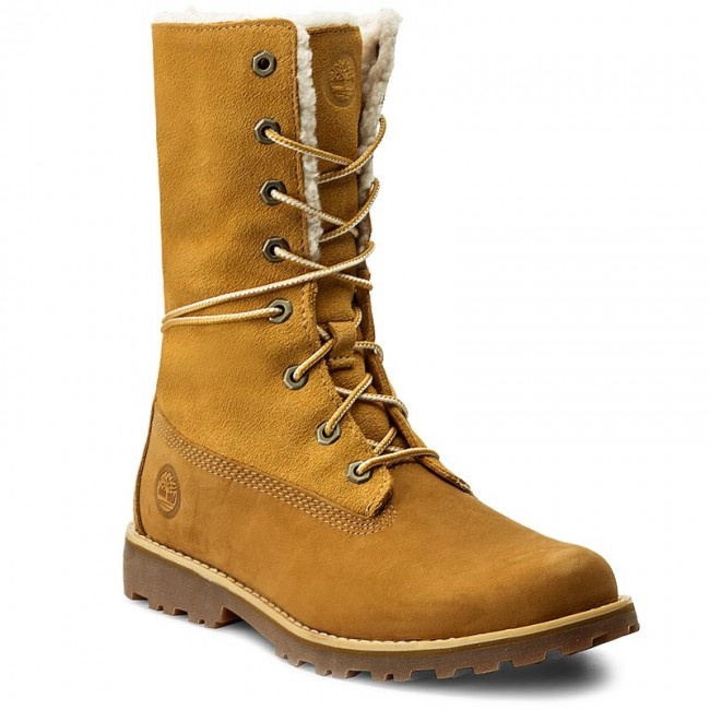 Trapperschuhe TIMBERLAND 6 In Wp Shearling Bo A156NTB0A156N2311 Wheat