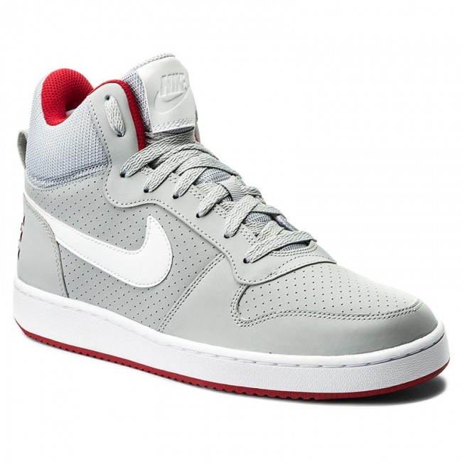 Schuhe NIKE Court Borough Mid 838938 002 Wolf GreyWhiteGym Red