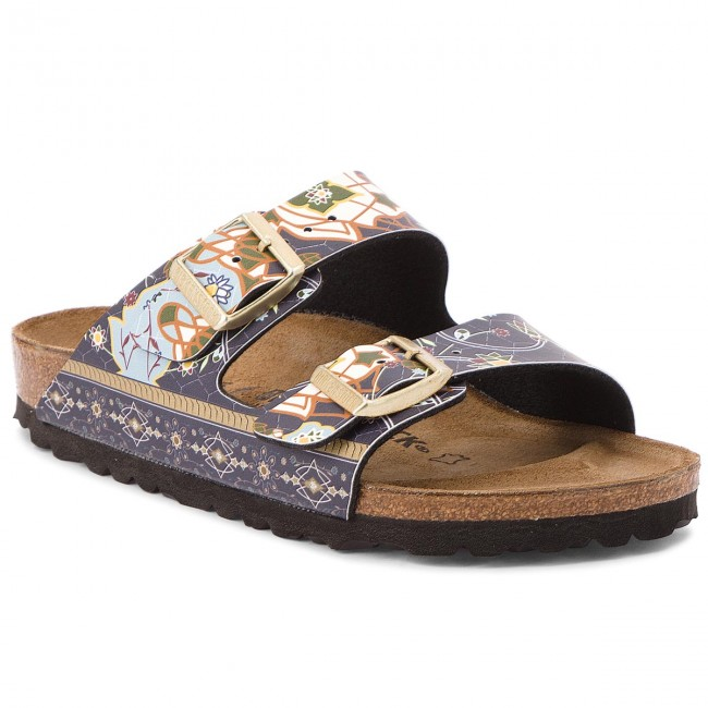 Pantoletten BIRKENSTOCK Arizona Bs 1009801 Ancient Mosaic Blue