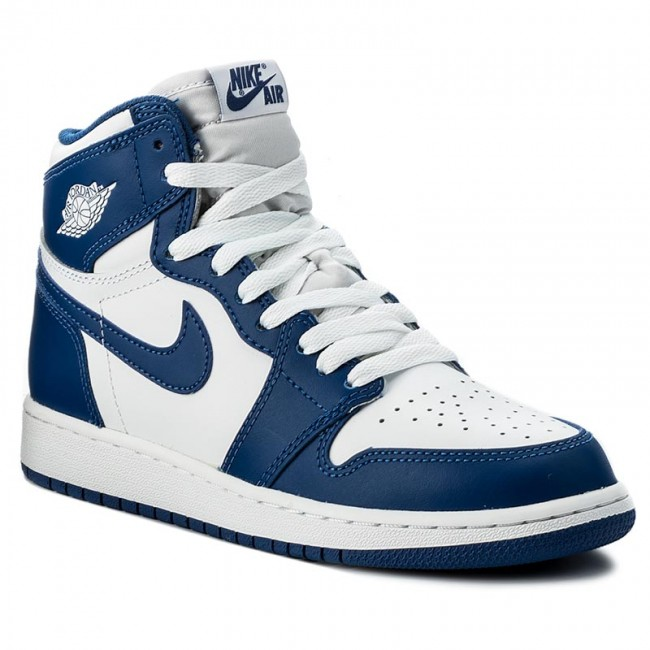 authentic quality fashion crazy price Schuhe NIKE - Air Jordan 1 Retro High Og Bg 575441 127 White/Stormblue