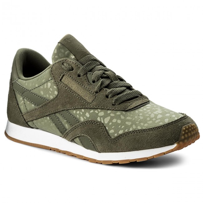schuhe reebok cl nylon slim txt lux bs9446 hunter green white gum sneakers halbschuhe. Black Bedroom Furniture Sets. Home Design Ideas