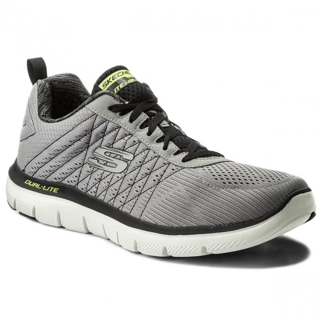 Schuhe SKECHERS The Happs 52185LGBK Light GrayBlk