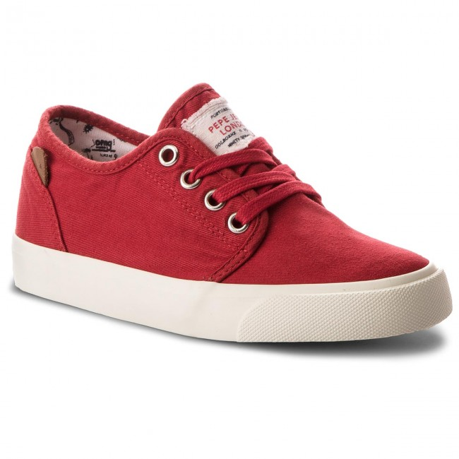 Turnschuhe PEPE JEANS Traveler Washed PBS30354 Crispy Red 241