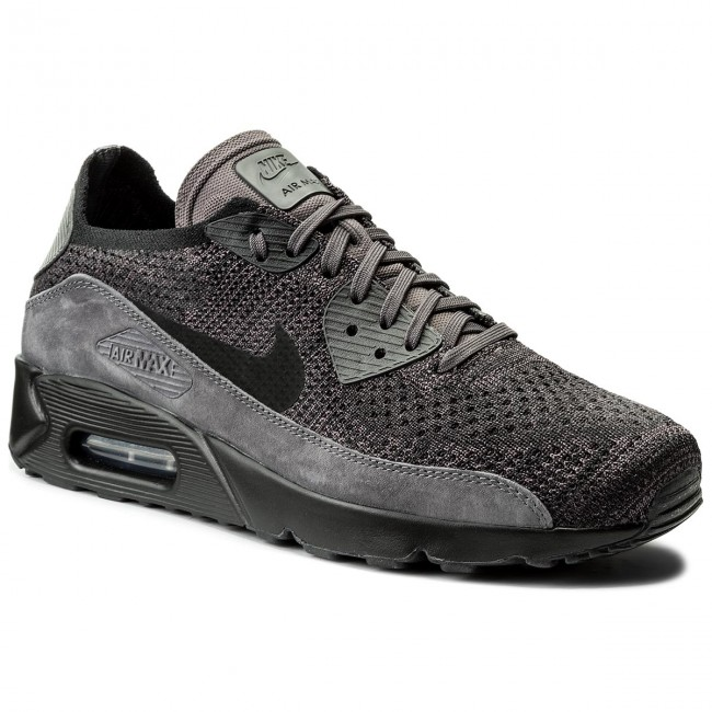 Schuhe NIKE Air Max 90 Ultra 2.0 Flyknit 875943 008 Thunder GreyBlack Dark Grey