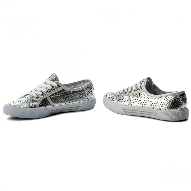 huge discount 81679 3a790 Turnschuhe PEPE JEANS - Aberlady Daisy PLS30643 Silver 934