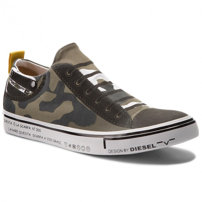 sports shoes c6c8a d191e Turnschuhe DIESEL - S-Imaginee Low Slip-On Y01700 P1640 H5254 Military Camou