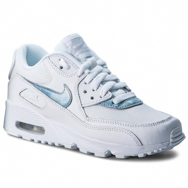 Schuhe NIKE Air Max 90 Mesh (GS) 833418 111 WhiteRoyal Tint White