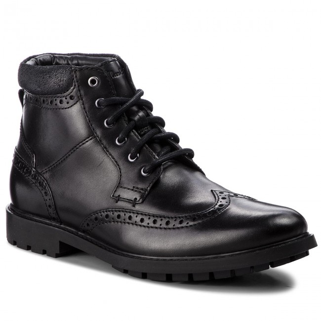 Stiefel CLARKS - Curington Rise 261368537  Blk Smooth Leather