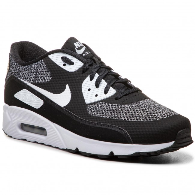 Schuhe NIKE Air Max 90 Ultra 2.0 Essential 875695 019 BlackWhiteMetallic Silver