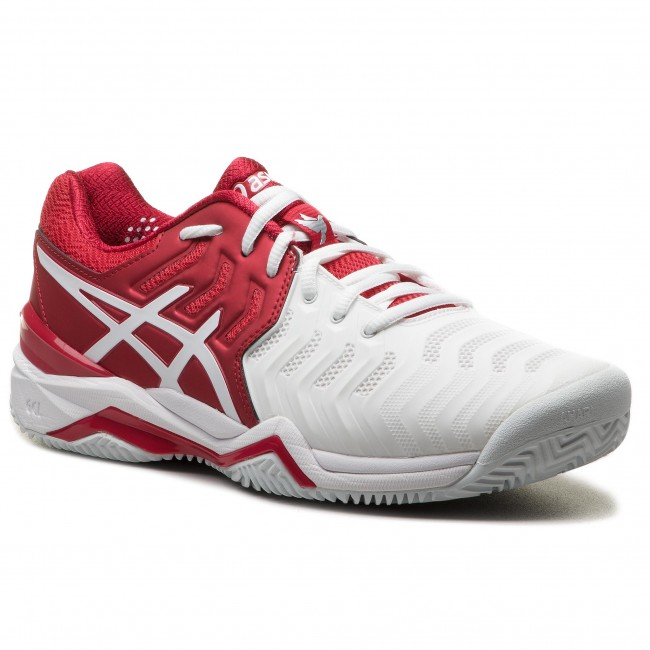 Schuhe ASICS - Gel-Resolution Novak Clay E806N Classic Red/White/Silver