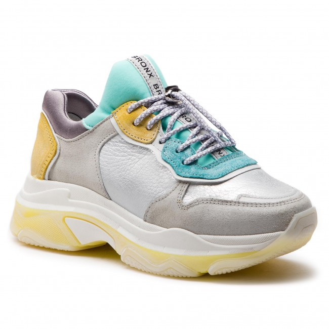 Sneakers BRONX 66167 K BX 1525 Off WhiteTurquoiseYellow