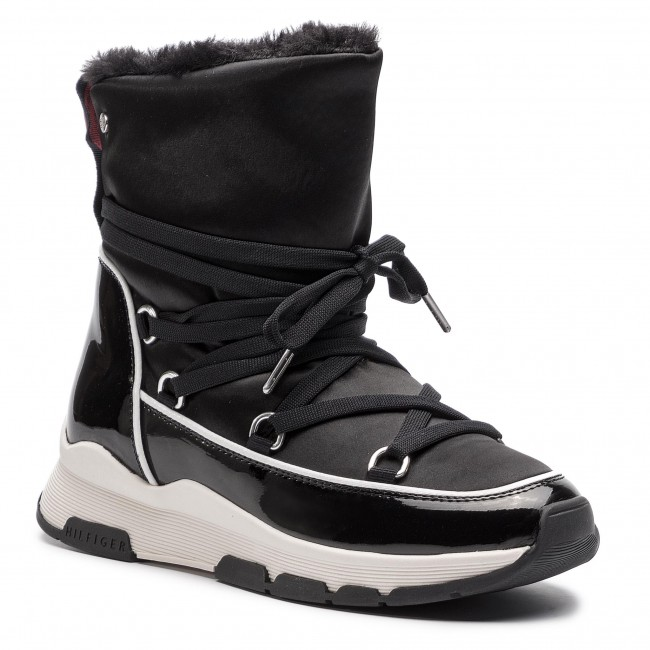 info for aaa4a 3c4ea Schuhe TOMMY HILFIGER - Cool Technical Satin Winter Boot FW0FW03697 Black  990
