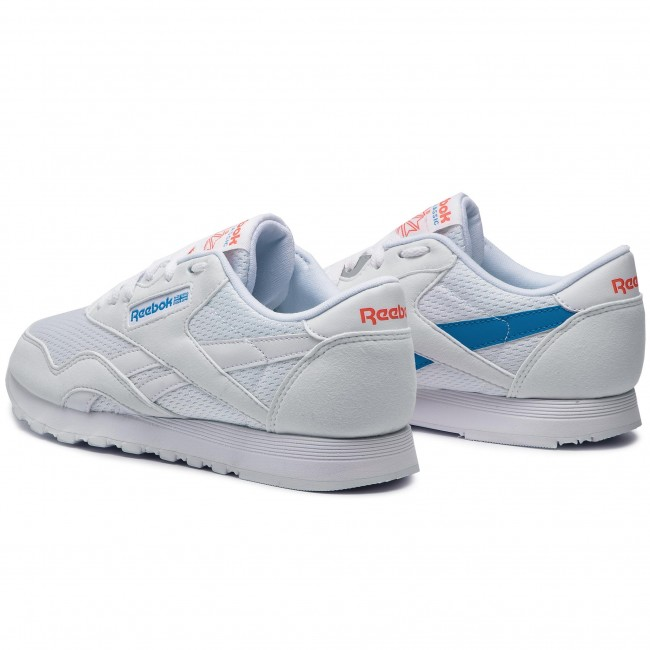 Schuhe Reebok Cl Nylon Txt CN6684 WhiteBlueNeon Red